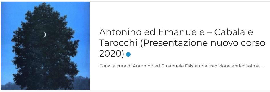 Antonino ed Emanuele – Cabala e Tarocchi