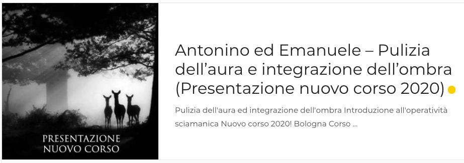 Antonino ed Emanuele – Pulizia dell'aura e integrazione dell'ombra